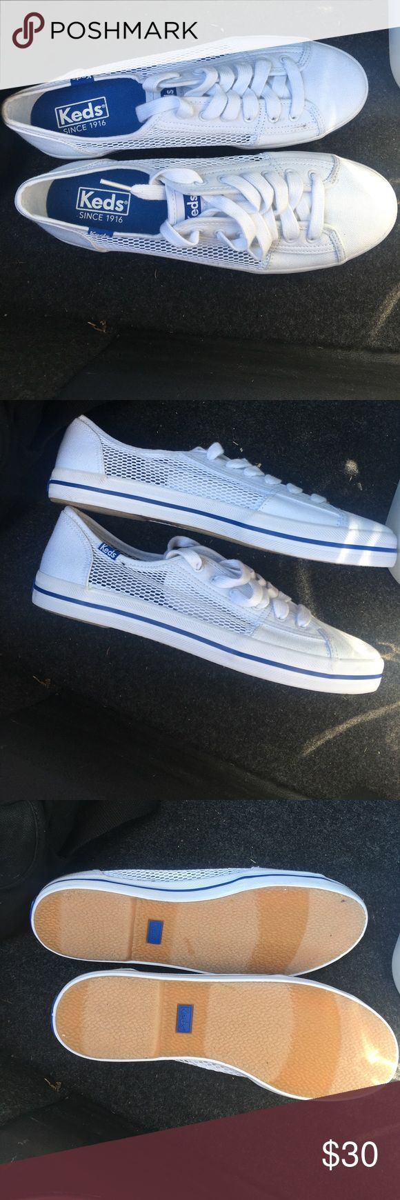 NEW-White Ked sneakers size 7 White comfy classic Ked sneakers. Never been worn. Size 7. Keds Shoes Sneakers