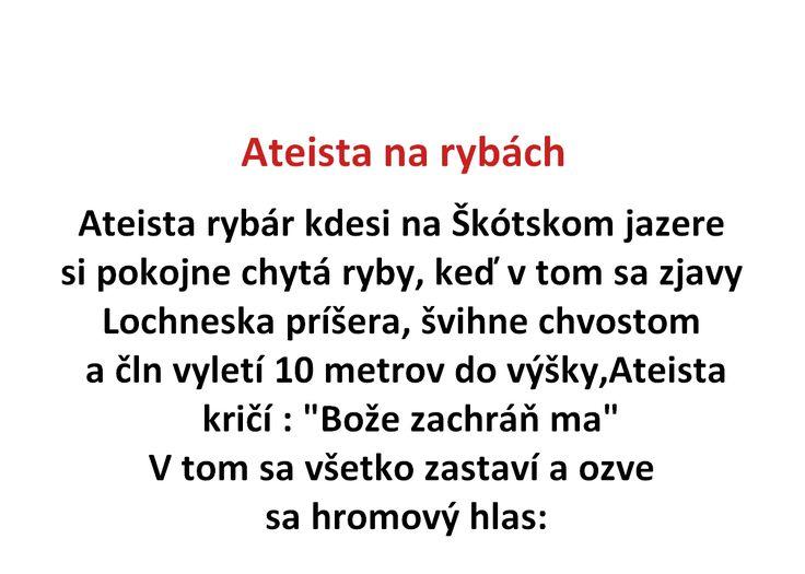 Ateista na rybách - Spišiakoviny.eu