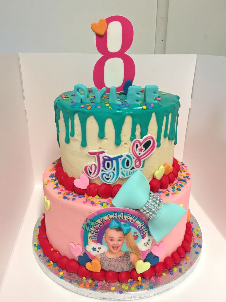 Jojo Siwa Cake Art In 2019 Jojo Siwa Birthday Cake