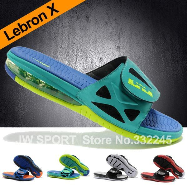 2013 New Arrival Free shipping Lebron 10 air cushion slippers summer sandals slippers Massage slippers