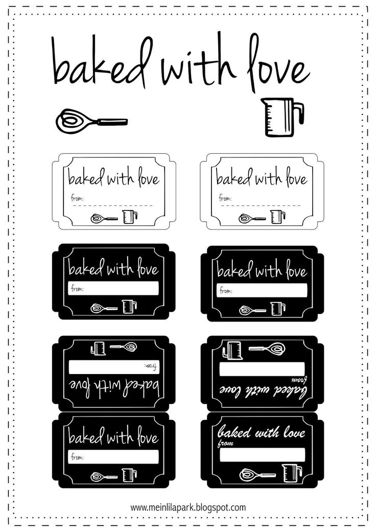 irene neuwirth earrings FREE printable cookie labels   baked with love tags   for baked good Christmas gifts