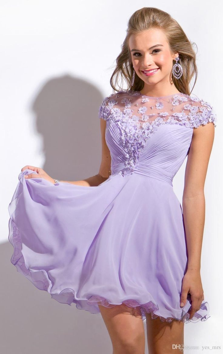 Wedding Homecoming Dresses Cheap 17 best ideas about cheap homecoming dresses on pinterest 2016 jewel neck illusion lilac chiffon flowers beaded short cocktail dress formal party prom gowns