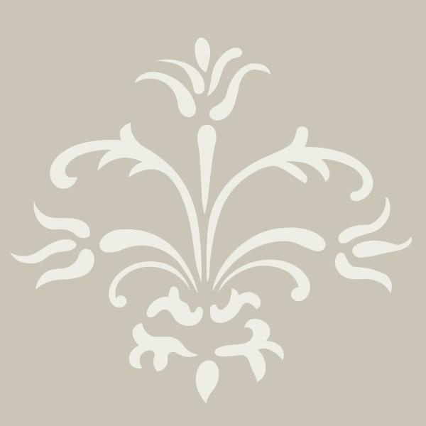 damask stencil from sunny's goodtime paint