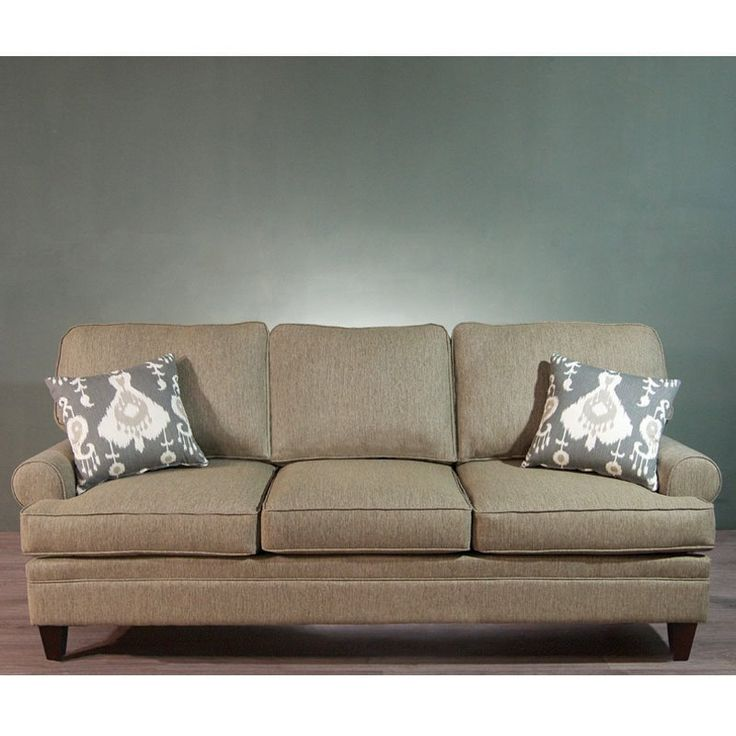 Charles Schneider Ample Taupe Sofa With Ignite Pewter Accent Pillows  $1131.96