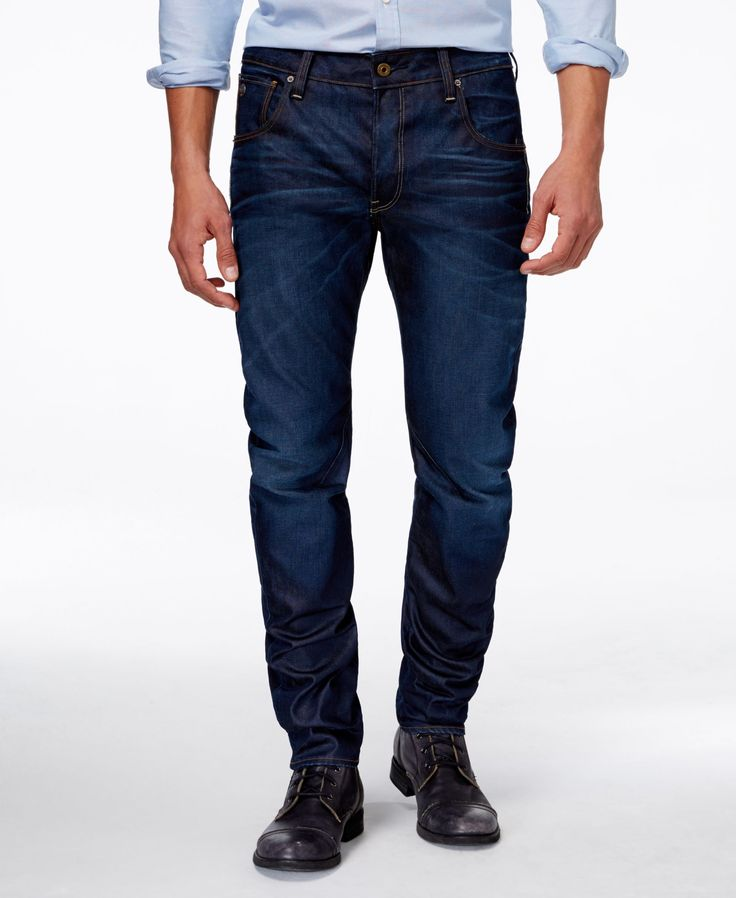 Refine your smart, casual look with these Arc jeans from GStar, designed with a…
