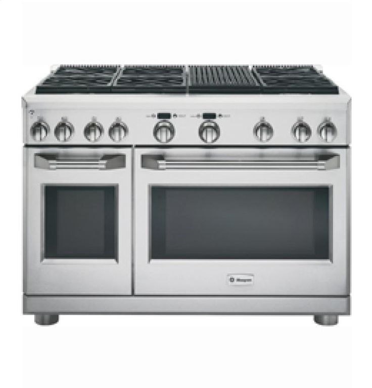 """ZGP486NRRSS by General Electric Canada in Winnipeg, MB - Monogram 48"""" Gas Professional Range with 6 Burners and Grill Shop JS Furniture Gallery for all your appliance needs.  1725 Ellice Avnue, Winnipeg, http://furnitureandmore.ca"""
