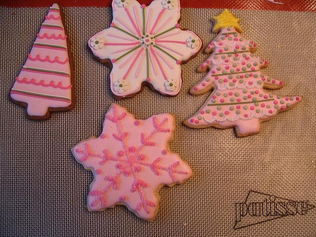 Yummy Pink Christmas Cookies: Galletas Navidad, Christmas Recipe, Pretty Cookies, Pink Christmas, Christmas Cookies, Christmas Stuff, Pink A Yummy, Yummy Pink, Frostings Christmas