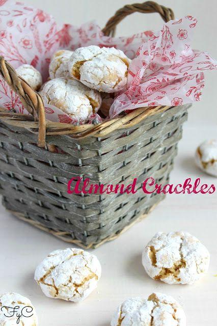 Frambuesa y Caramelo: Galletas de almendra craqueladas