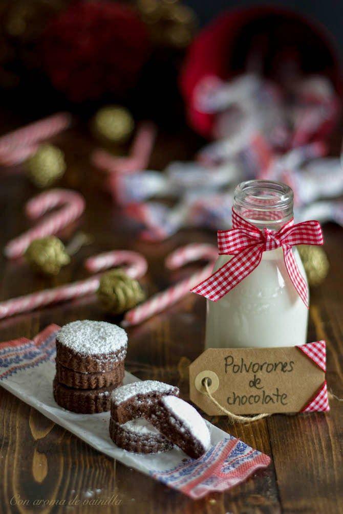 Con aroma de vainilla: Polvorones caseros de chocolate
