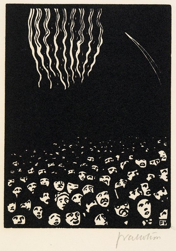 Fireworks by Félix Vallotton