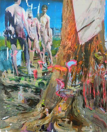 Giuseppe Gonella Sunny Side Up 2014, Acrylic on canvas/Acryl auf Leinwand 120 x 100 cm