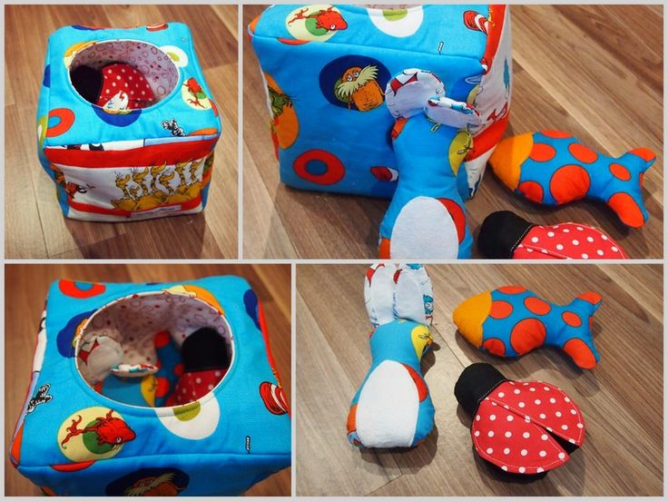 Discovery box - for depth perception. Toys are tactile.