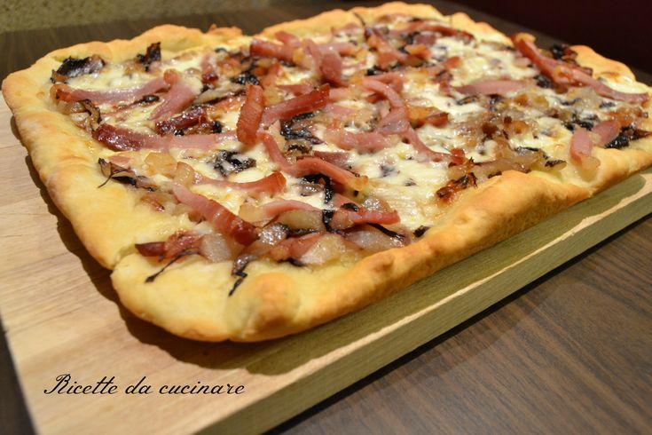 Pizza radicchio speck stracchino con impasto a lievitazione istantanea