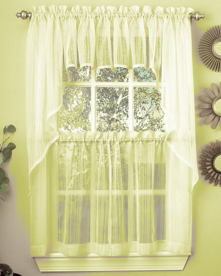 Irish Point Lace Tailored Curtain Pair Clearance Tailored