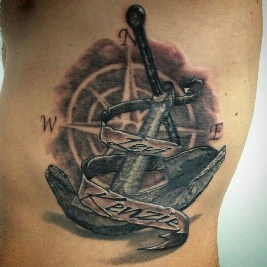 anchor compass tattoo tattoos pinterest anker. Black Bedroom Furniture Sets. Home Design Ideas
