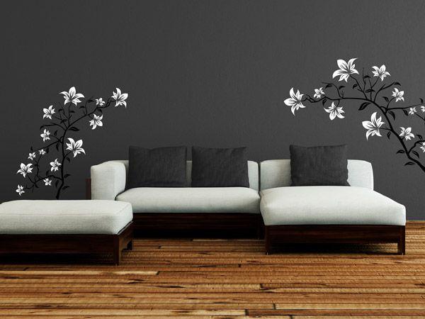 Wandtattoo Blumen Weiß : zu Blumen Wandtattoos auf Pinterest  Wandmalereien, Vintage blumen