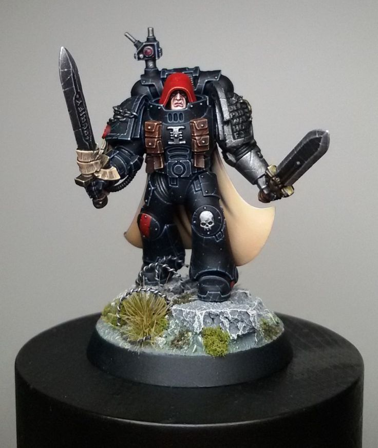 Painting Black Power Armour by Giovanni Di Lena | figurementors