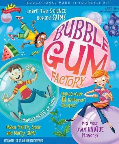 POOF-Slinky - Scientific Explorer Bubble Gum Factory Kit, 8-Activities, 0SA257 Scientific Explorer http://www.amazon.com/dp/B0016M16W2/ref=cm_sw_r_pi_dp_9pteub1TTX253