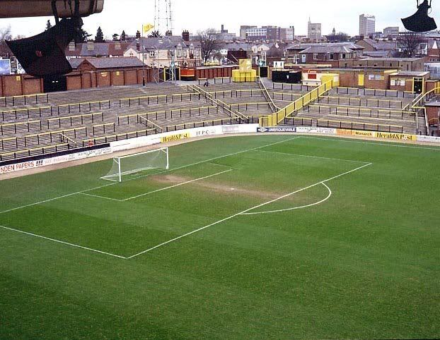 Vicarage Road, Watford. Terracing before the new stand.