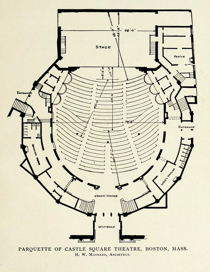 Plan of the Castle Square Theatre, Boston