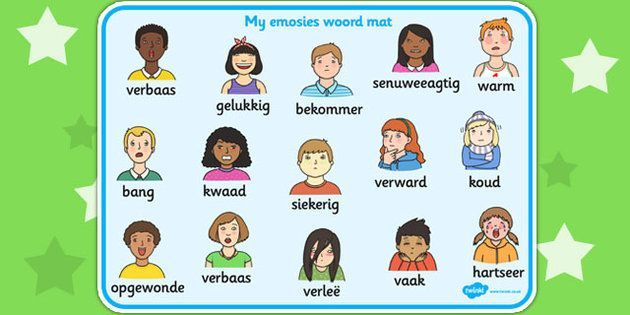 Afrikaans My Emotions Word Mat