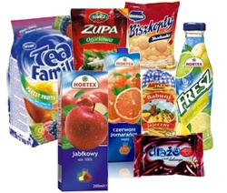 Zupa, Fresz, Bisxkoply, and Tea family are products of Poland.