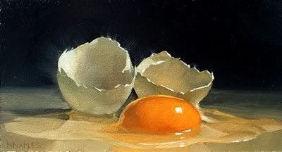Quot Cracked Egg No 8 Quot Michael Naples Oil On Board Approx
