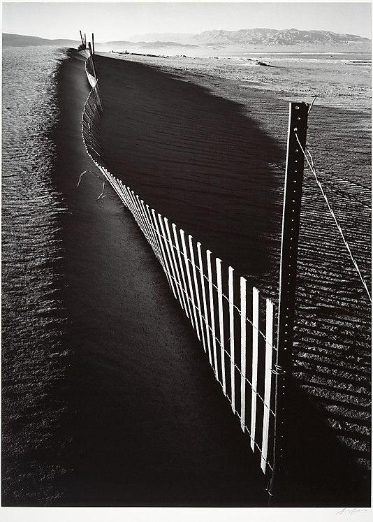 Sand Fence, Keeler, California  Ansel Easton Adams (American, San Francisco, California 1902–1984 Carmel, California)