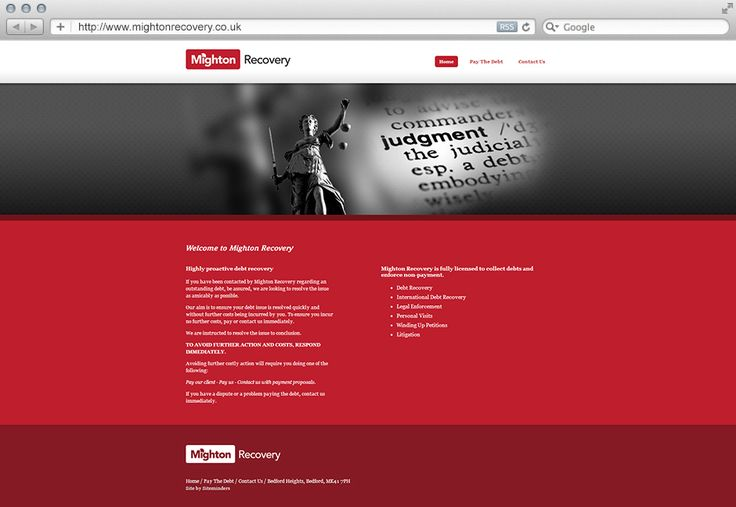Mighton Recovery are a debt recovery agency based in Milton Keynes. Siteminders created a 3 page static website as part of our basic package to give them an online presence without the headache of having to maintain it.