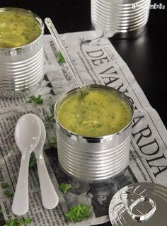 Crema de calabacín, puerros y manzana - L´Exquisit,con receta