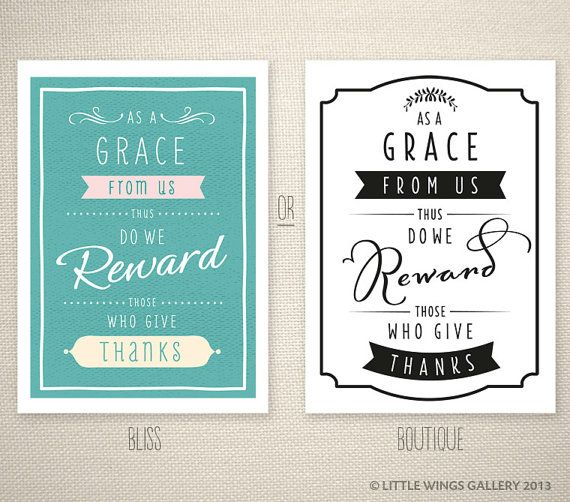 As a grace from Us thus do we reward those who give thanks. Islamic Quote Art Print by Little Wings Gallery #grace #islam #typography #print #giving #thanks