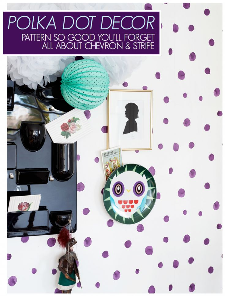 Polka Dots in Decor - Wallpaper Inspiration from The Life Creative