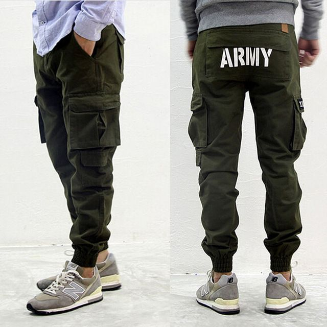 Online Shop mens american fashion military styles joggers skinny army green cargo pants with pocket hiphop overalls | Aliexpress Mobile