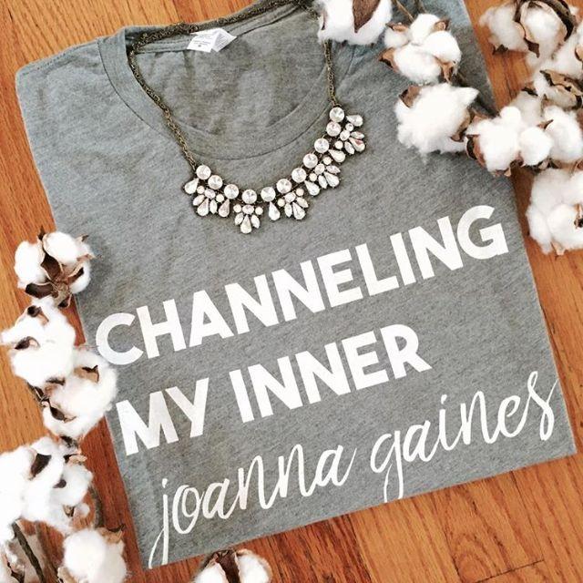 Channeling my Inner Joanna Short Sleeve T-Shirt- grey in medium