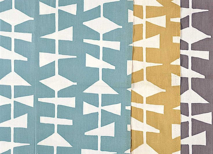 Lucienne Day - dress fabric, c.1954 -  One of five dress fabrics manufactured by Cavendish Textiles on behalf of their parent company, the John Lewis Partnership, this pattern is much smaller in scale than Lucienne's furnishing fabrics and draws on a different palette.