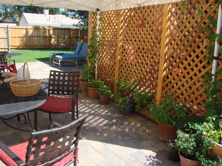 Best 25 patio privacy ideas on pinterest patio privacy screen a good luck story lavender and so much more patio privacy screenprivacy screensbackyard solutioingenieria Gallery