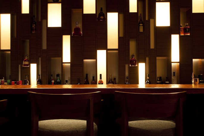 """MIYABI Tei Bar"" located in Sheraton Hiroshima Hotel, w/boss and his secretaries in Spring 2012"