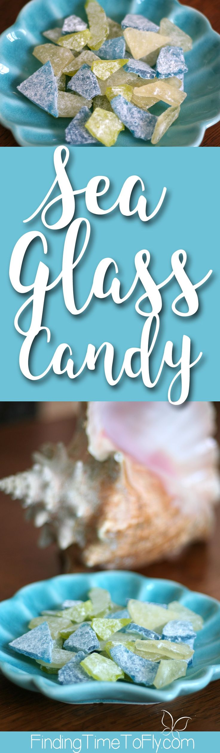 Old fashioned hard rock candy recipe turned into Sea Glass candy. This would be great for a sea themed birthday party or baby shower.
