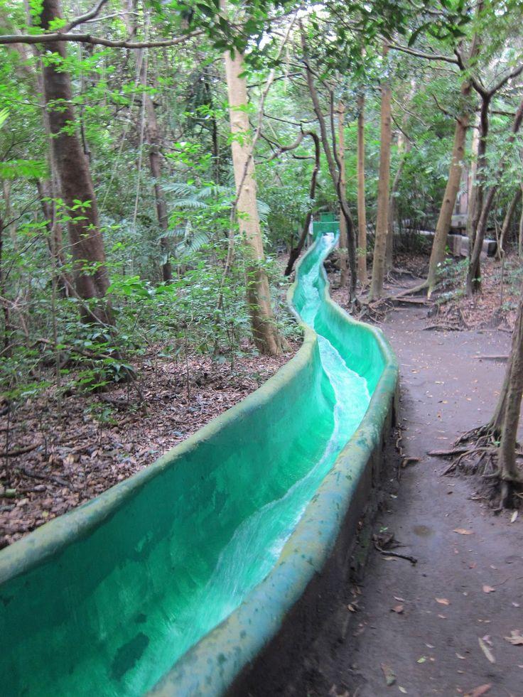 Jungle waterslide in Costa Rica