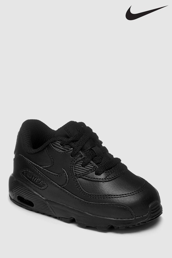Boys Nike Air Max 90 Infant Trainers Black | Nike air max