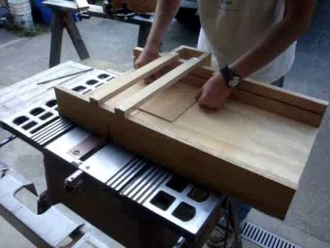 How to build a table saw sled for perfectly square cuts every time. This guy cracks me up in every video.