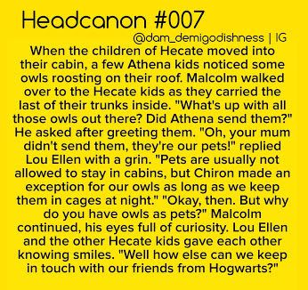 I always thought that the Hecate kids would go to Hogwarts during the school…