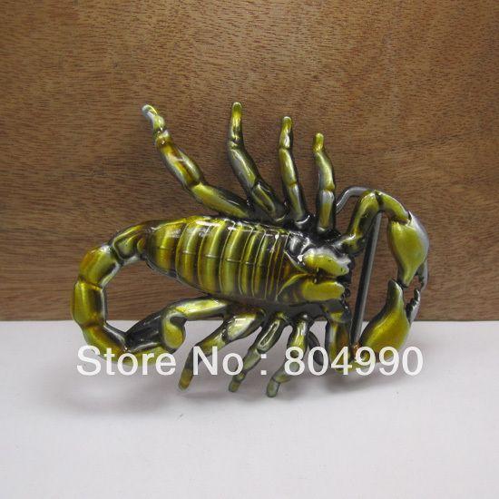 Скорпион пряжки ремня с оловянные FP-02615 подходит для 4 см wideth ремень с непрерывной на складе