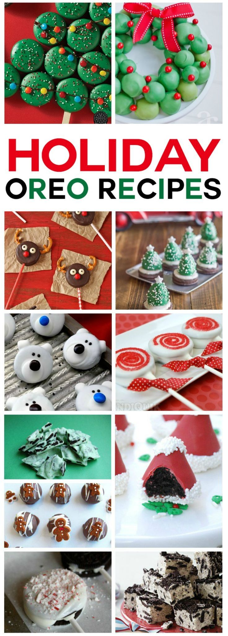 25 Incredible OREO Holiday Recipes - all these festive holiday treats use OREO cookies as a main ingredient.  What a fun idea for yummy Christmas desserts!