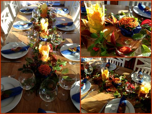 Höstdukning - autumn table setting