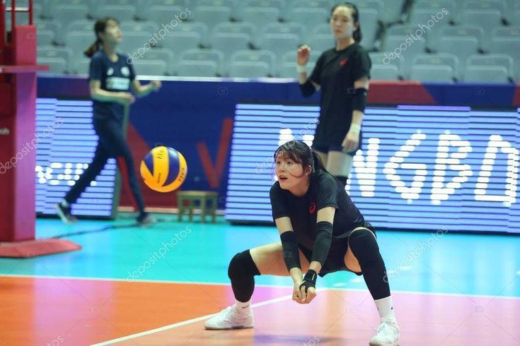 Spieler Südkorea Frauen-Volleyball-Nationalmannschaft nimmt am Training teil – S, #spo …   – Aesthetic pictures