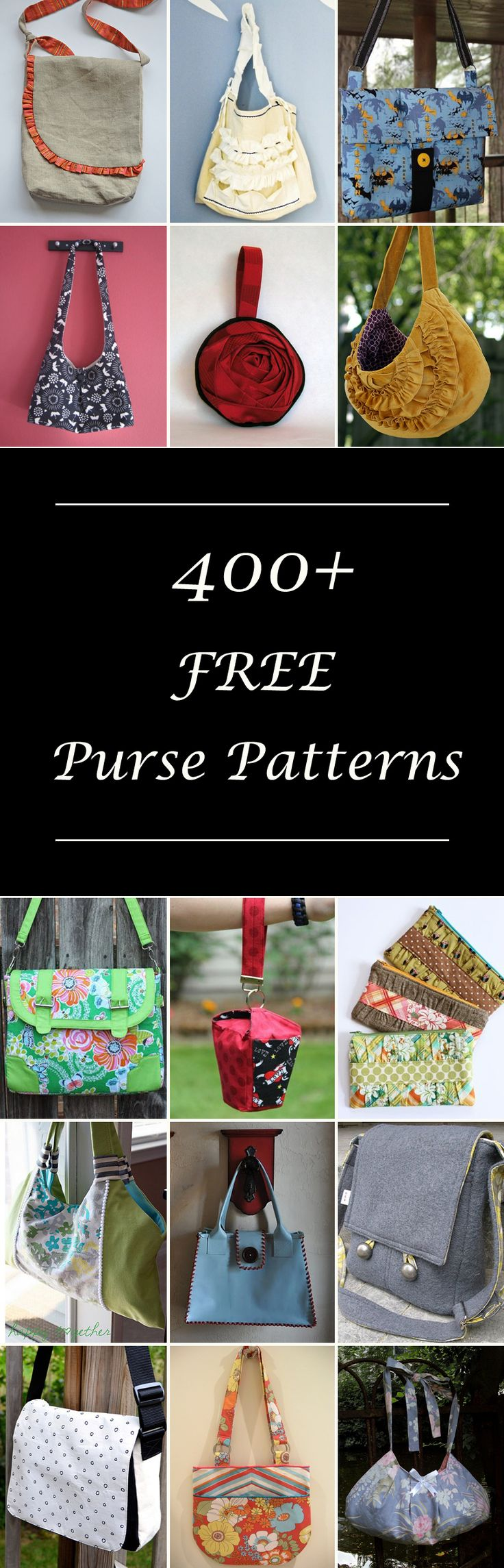 Over 400 Free Purse Sewing Patterns