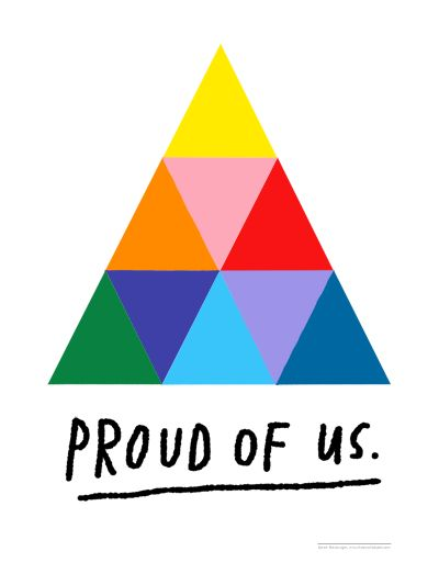 Proud of Us gay pride LGBTQI+ Pride Print by Atlanta based illustrator Sarah Neuburger
