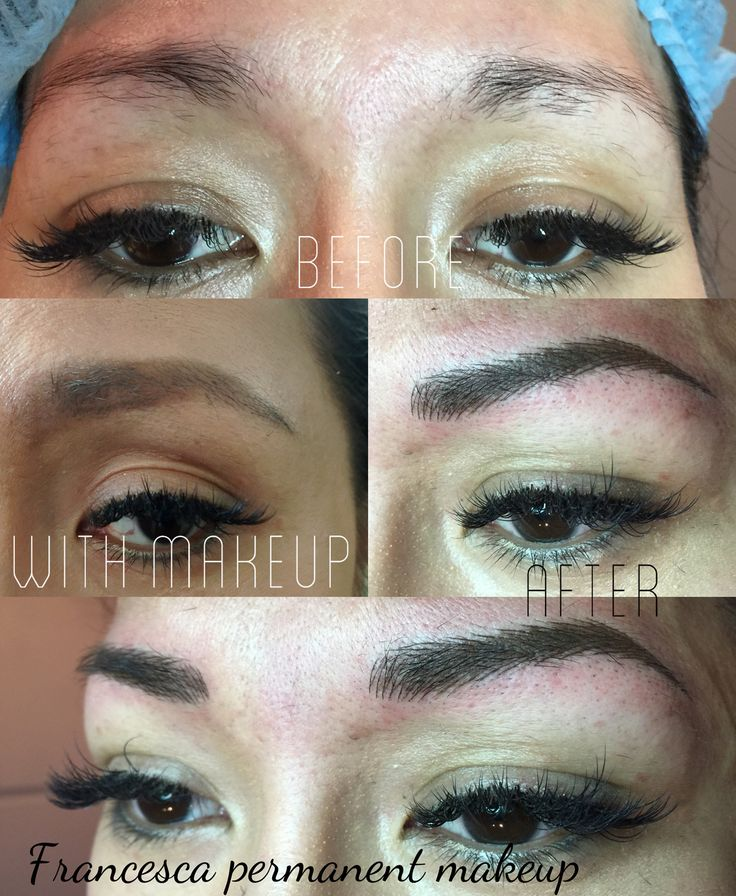 New shape  Before and after hair stroke eyebrows