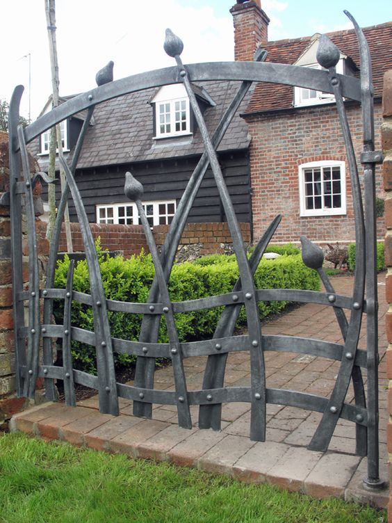 Edwards hand forged contemporary garden gate doors